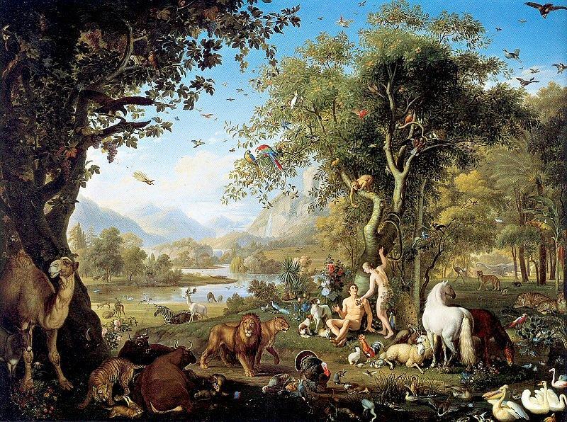 El gran cielo el ed n y la ca da del hombre for Adan y eva en el jardin