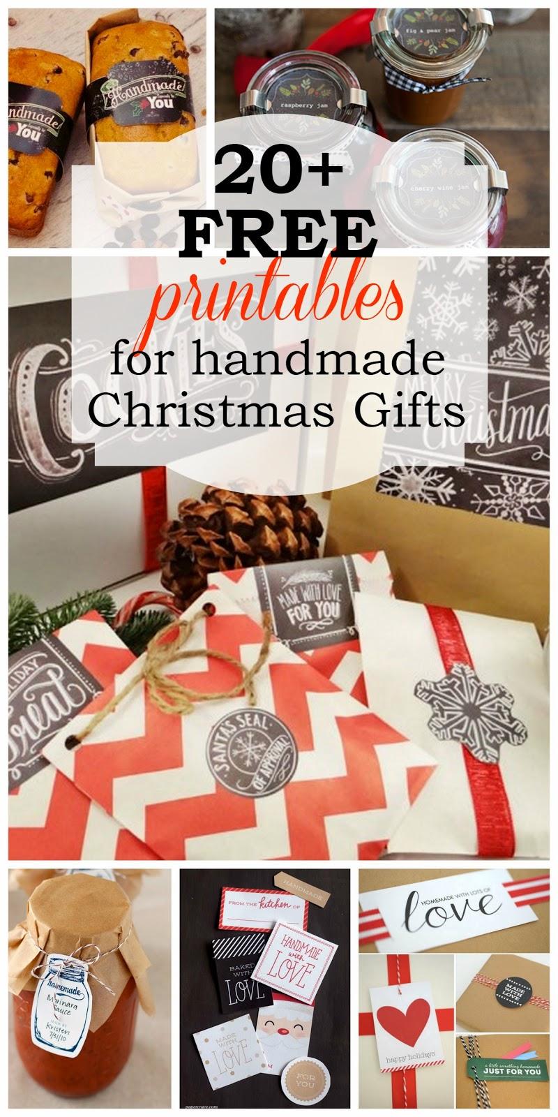 The Harris Sisters: Free Printables for Handmade Christmas Gifts