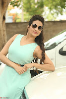Manjusha in beautiful thin green gown At Jaya Janaki Nayaka le Logo Launch ~  Exclusive 071.JPG