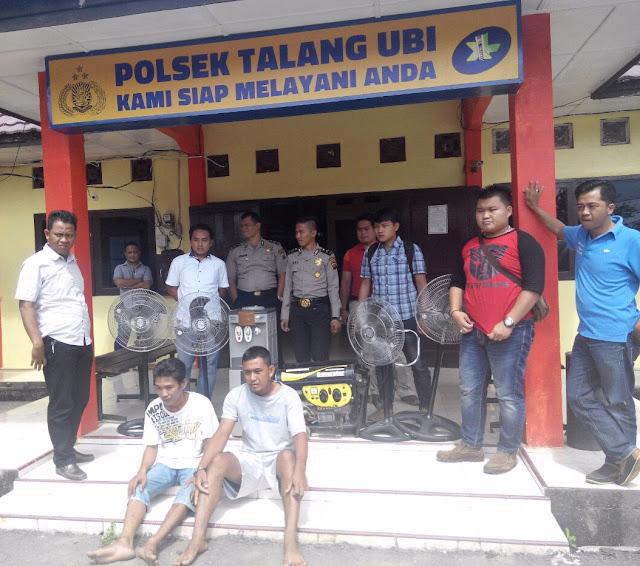 Polsek Talang Ubi Amankan Komplotan Pembobol Sekolah