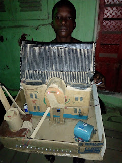 See How 10 years old Aba boy builts a house with Carton.