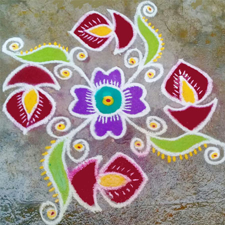 Rangoli is a tradition in many parts of India to create Small Rangoli diya designs to mark Diwali.
