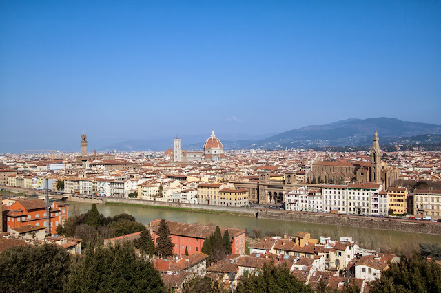 Panorama da Piazzale Michelangelo-Firenze