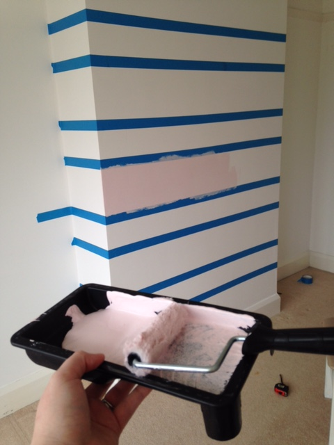 How To Paint A Striped Feature Wall