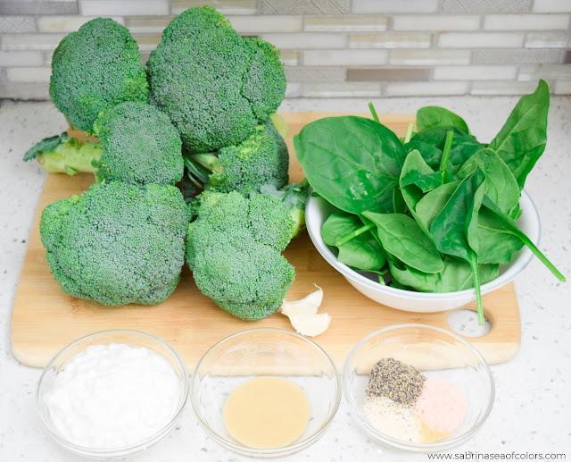Crema de brócoli y queso cottage