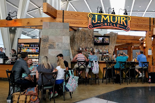 bar at the gates, Fresno airport, California