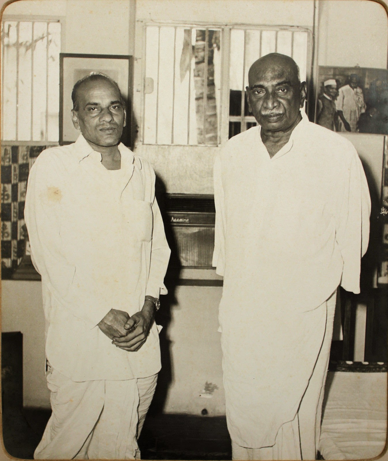 Indian National Congress Leader K. Kamraj (on the right) with a Friend