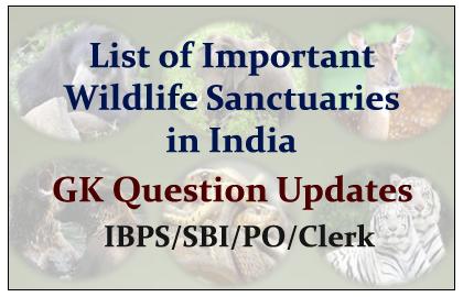 List of Important Wild Life Sanctuaries in India