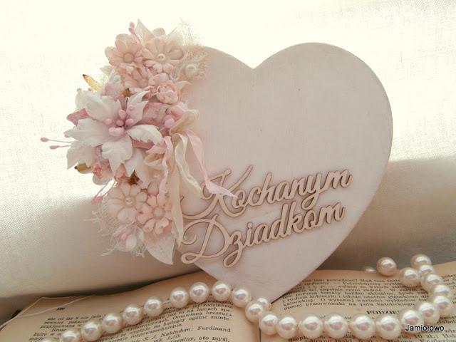ramka serce na Dzień Dziadków