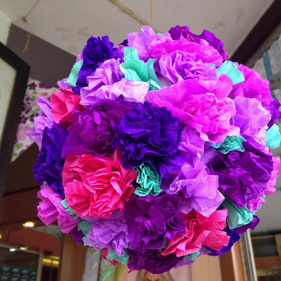 Flores con papel crep - Como se hace una vidriera ...