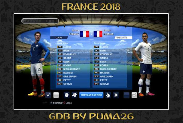 FRANCE 2018 Kits Update PES 2013