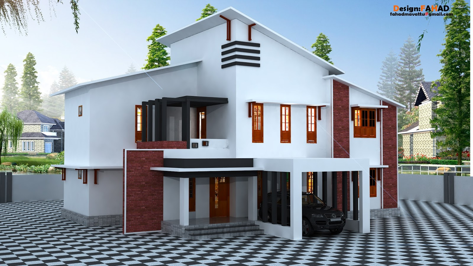 Fhd Designs Double Storey House Plan And 3d Model