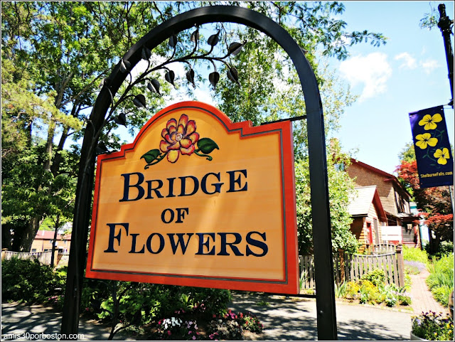 Bridge of Flowers en Shelburne Falls, Massachusetts