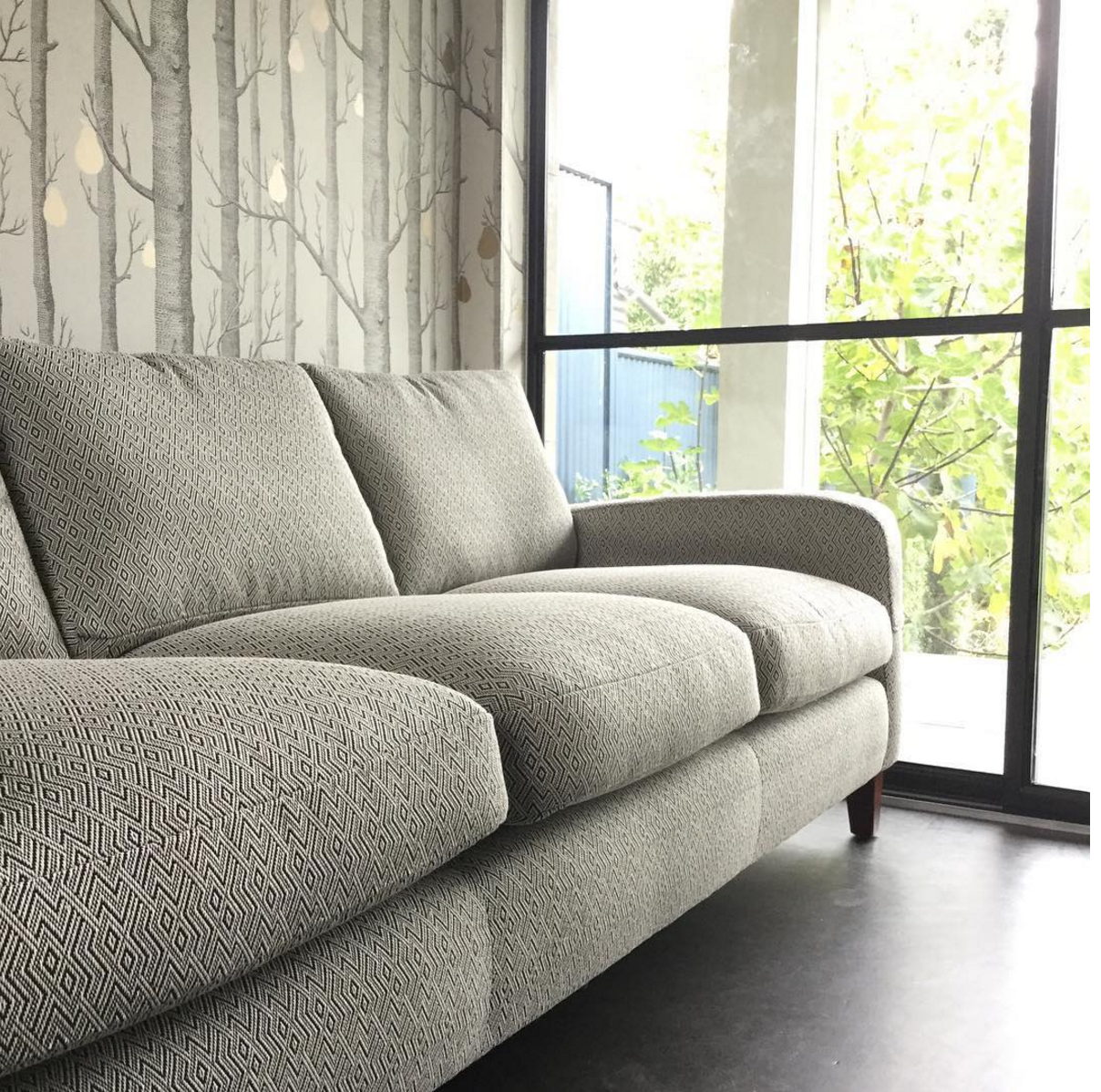 reupholster sofa south london small one person adelaide villa re upholstering when is it worth doing how much reupholstered in the kid s playroom jim thompson indoor outdoor fabric new springs and extra feather fill back cushions