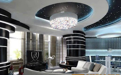 faux plafond platre moderne - Ms Timicha   Décoration Marocaine