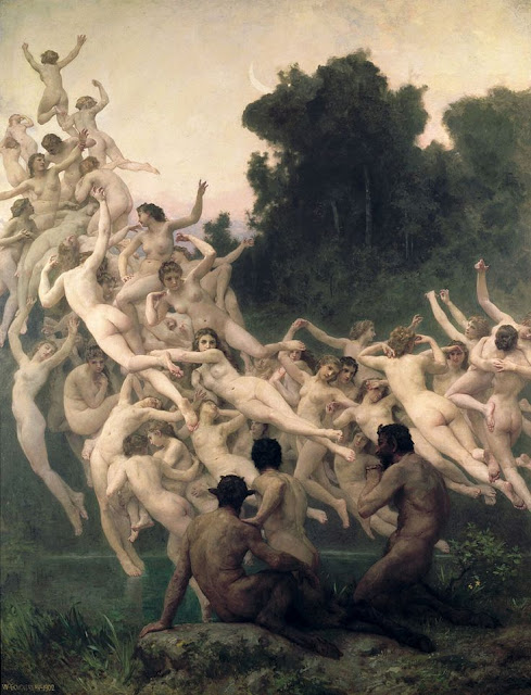 """Les Oreades""  William Adolphe Bouguereau"