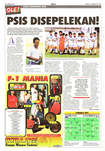 PIALA CHAMPION ASIA 1999 PSIS SEMARANG