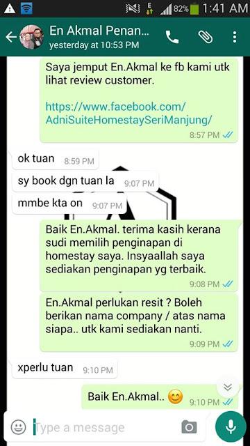 Adni Suite Homestay Seri Manjung Lumut | Encik Akmal | Booking