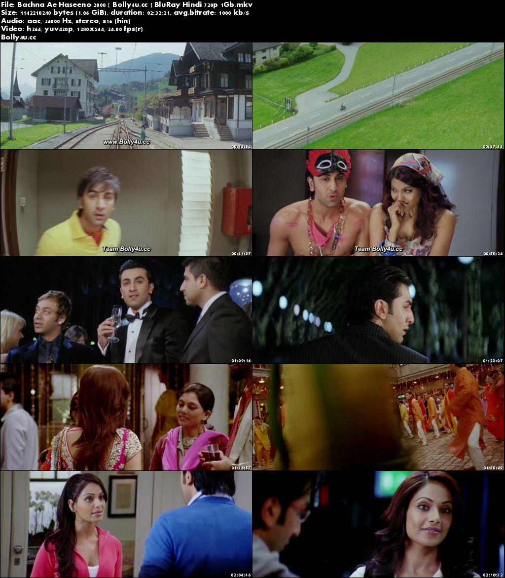 Bachna Ae Haseeno 2008 BluRay 1Gb Hindi 720p Download