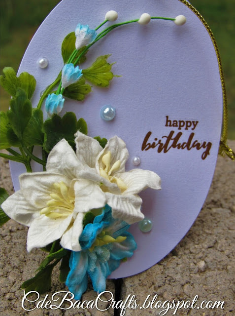 Handmade happy birthday gift tags by CdeBaca Crafts Blog