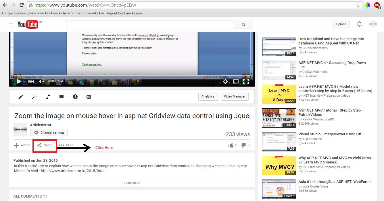Asp.net: Embed Youtube video - Free Asp.Net,MVC,AngularJs ...