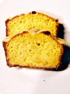 Orange cake with orange flavored icing