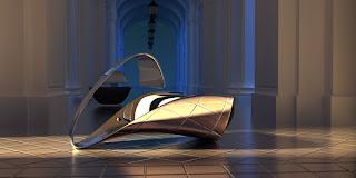 Silla de acero cromado. Diseño Moderno