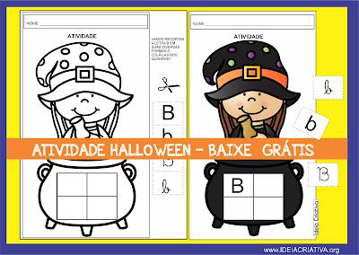 Atividade Letra B Temática Halloween para imprimir