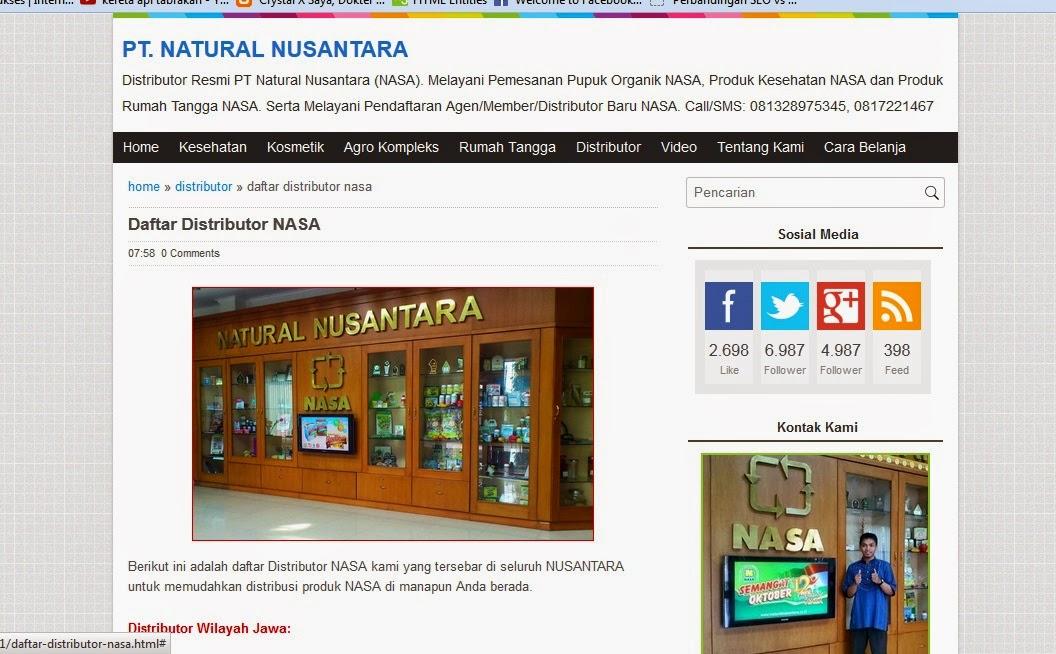 Website Distributor Nasa