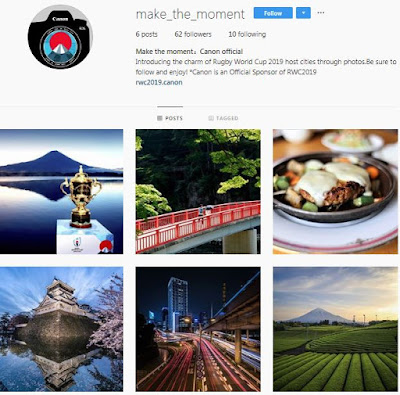 Canon's @make_the_moment Instagram account
