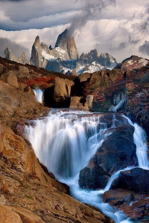 Today\u0027s serenity scene Waterfall Mountain \u2013 Monte Fitz Roy
