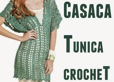 Casaca-Tunica manga japonesa crochet