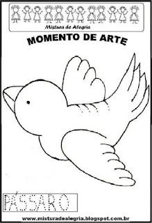 Projeto Pátria, desenho de passarinho