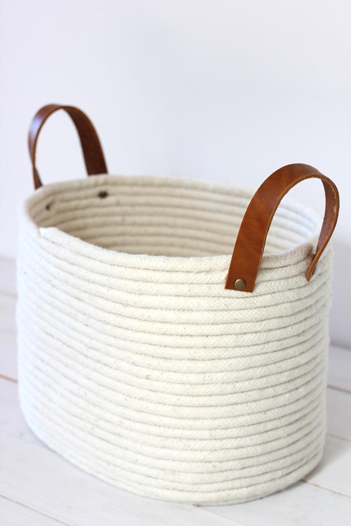 tutorial para hacer una cesta o cesto con cuerda- diy
