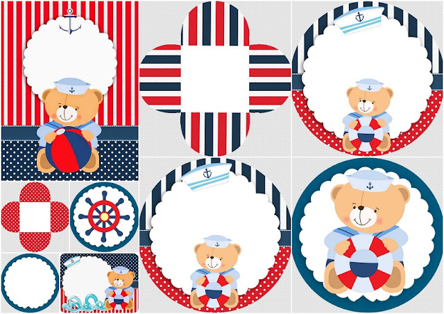Sailor Bear: Free Printable Kit.