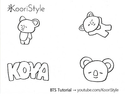 Koori Style, KooriStyle, BTS, BT21, Rap Monster, Namjoon, Koya, Pin, Brooch, Broche, Felt, DIY, Tutorial, Make, Easy, Cute, Kpop, Facil, Fieltro, Plantilla, Printable