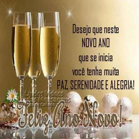 Desejo que neste  NOVO ANO  que se inicia  você tenha muita  PAZ, SERENIDADE E ALEGRIA!  Feliz Ano Novo!
