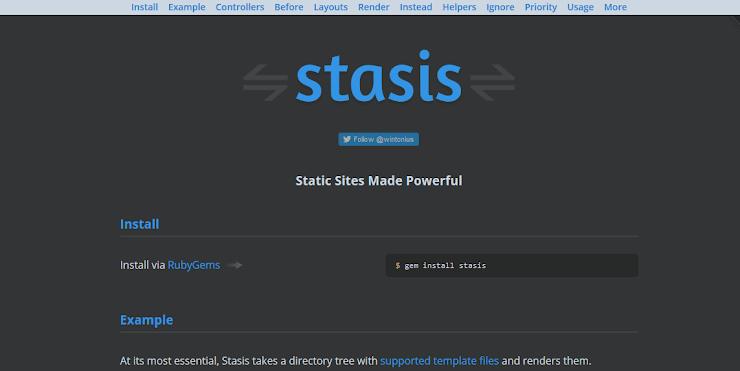 Stasis static publishing service