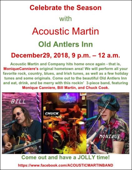 12-29 Acoustic Martin, Old Antlers Inn, Gaines