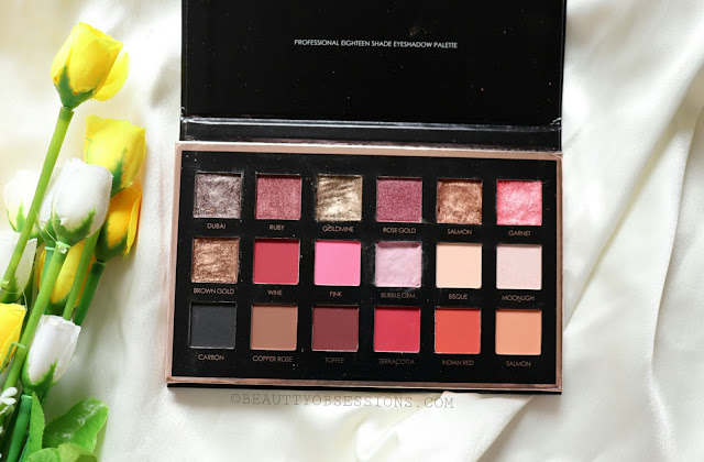 Focallure 18 Colours Eyeshadow Palette Review and Swatches | Ft. Beautybigbang.com