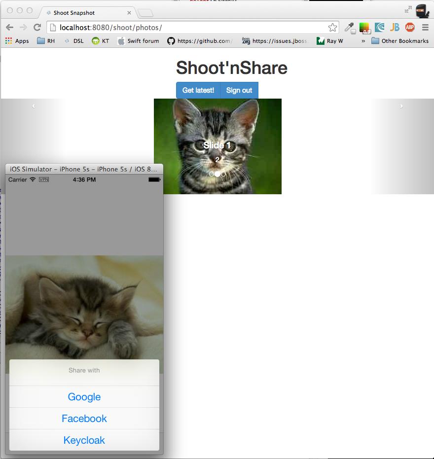 AeroGear with Keycloak, OAuth2 friends for iOS apps