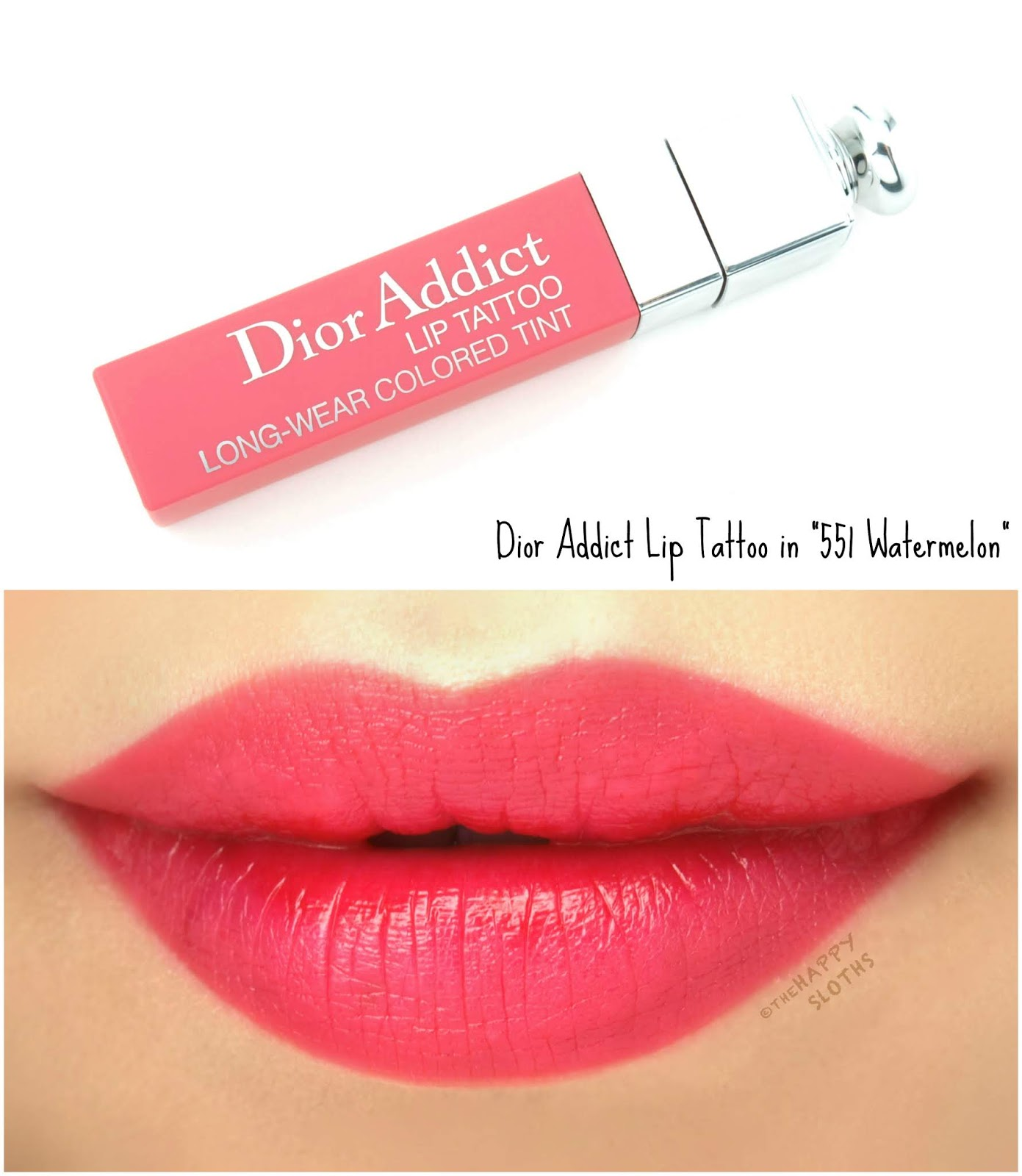 "Dior | Summer 2018 Dior Addict Lip Tattoo in ""551 Watermelon"": Review and Swatches"