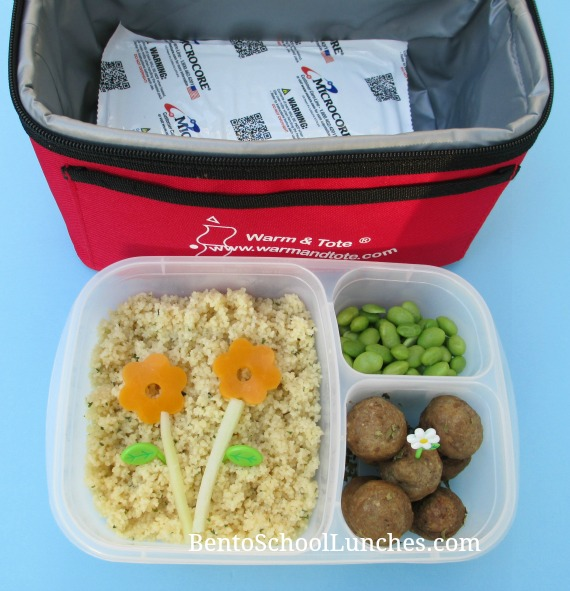 Warm and Tote Lunchbag Review, Couscous lunch