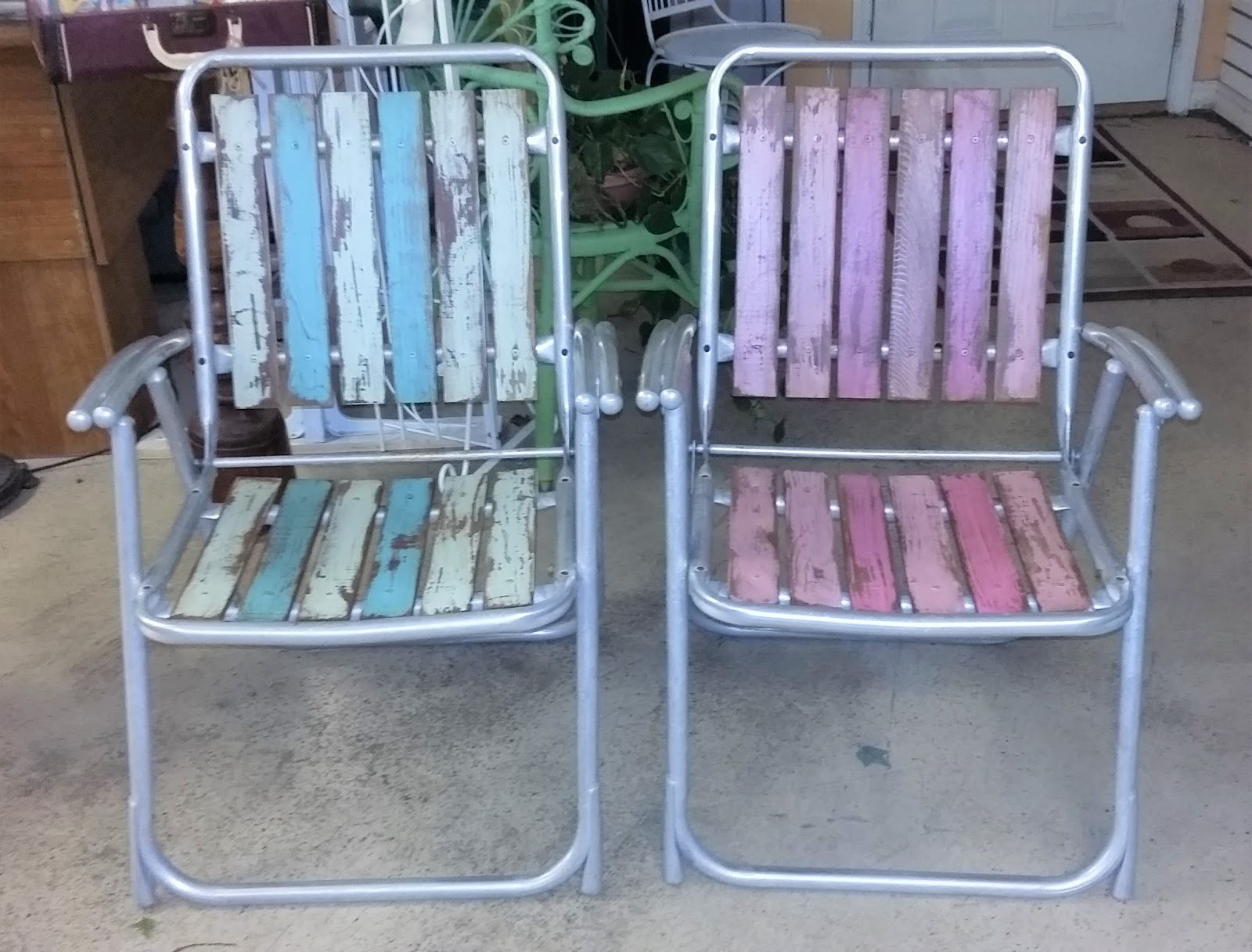 folding chair upcycle staff room table and chairs coastal bohemian vintage