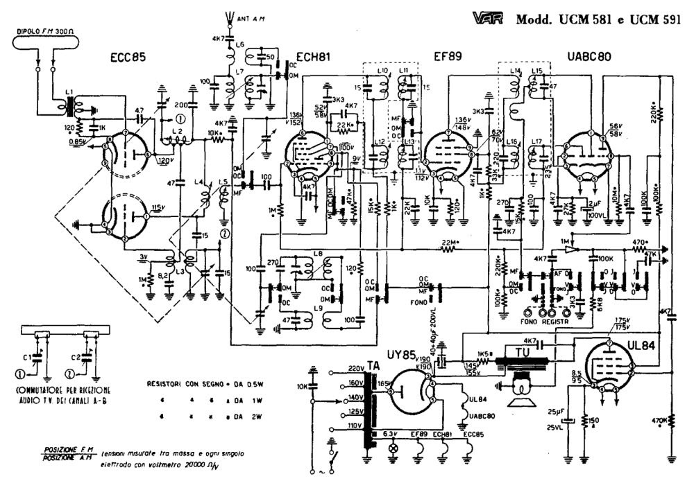 Davide Gironi: Mivar Samo UCM/591 vacuum tube radio repair