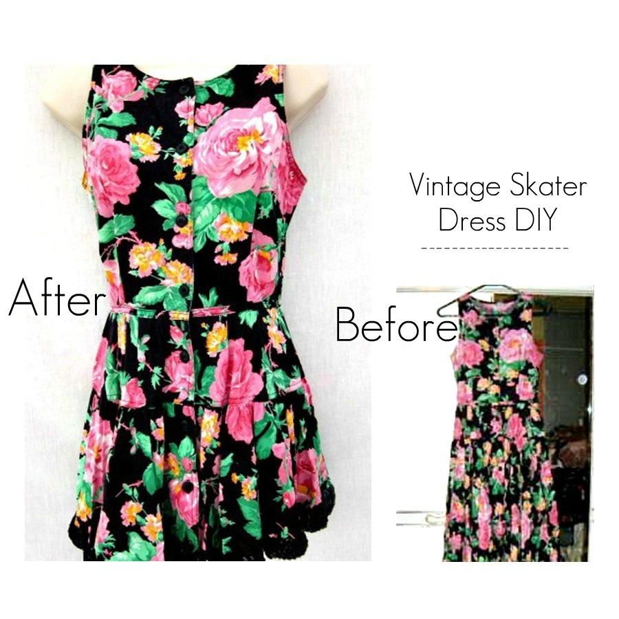the science of happy diy 50s floral vintage dress. Black Bedroom Furniture Sets. Home Design Ideas