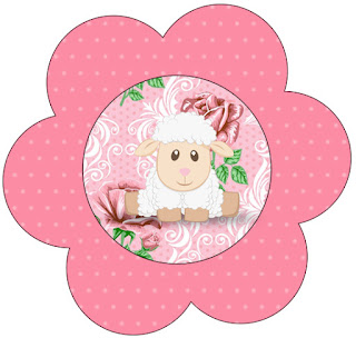 Lamb in Shabby Chic: Free Printable Cupcake Toppers and Wrappers.
