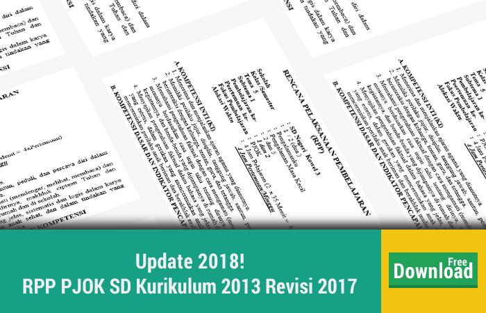 RPP PJOK SD Kurikulum 2013 Revisi 2017