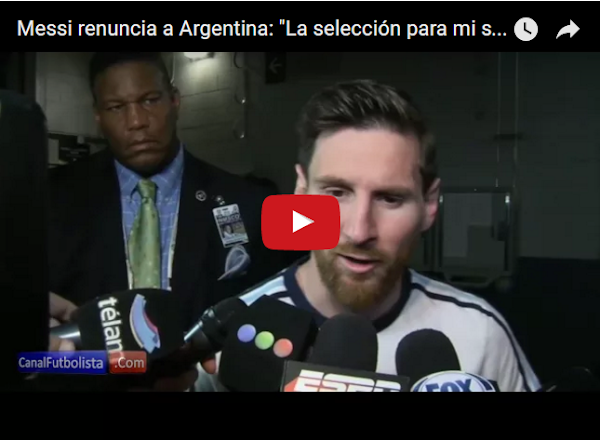 Messi renuncia a la selección Argentina