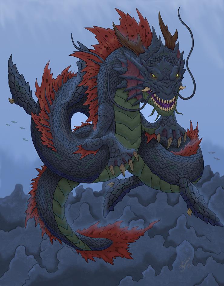 Japanese Dragon: God Of The Week: Ryujin: Japanese Dragon God Of The Sea